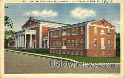 Fine Arts Bldg, University of Georgia - Athens Postcard