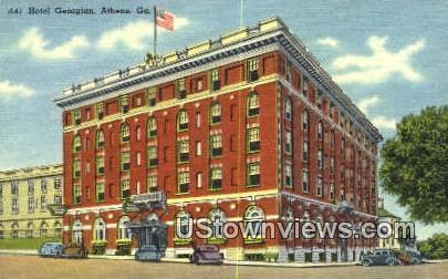 Hotel Georgian - Athens Postcard