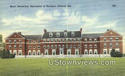 Boys' Dorm, University of Georgia - Athens Postcard
