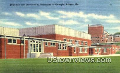 Drill Hall & Natatorium - Athens, Georgia GA Postcard