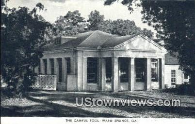 Campus Pool - Warm Springs, Georgia GA Postcard