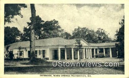 Infirmary - Warm Springs, Georgia GA Postcard