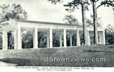 Columbus Porch - Warm Springs, Georgia GA Postcard