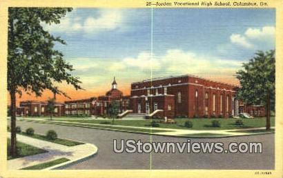 Jordan Vocational High School - Columbus, Georgia GA Postcard