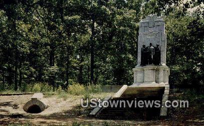 Illinois Monument - Marietta, Georgia GA Postcard