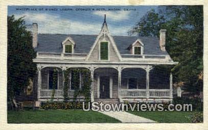 Birthplace Sidney Lanier - Macon, Georgia GA Postcard