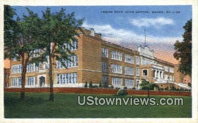Lainer Boys High School - Macon, Georgia GA Postcard