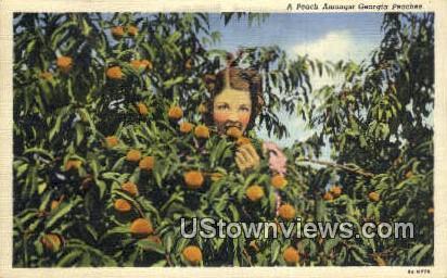 Peaches - Macon, Georgia GA Postcard