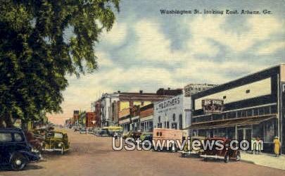 Washington Street - Athens, Georgia GA Postcard
