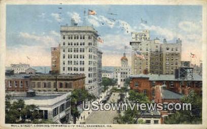 Bull St - Savannah, Georgia GA Postcard
