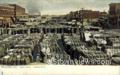 Poplar Street - Macon, Georgia GA Postcard