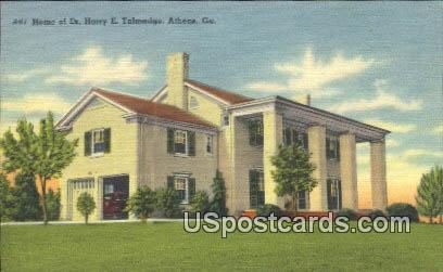 Home of Dr Harry E Talmadge - Athens, Georgia GA Postcard