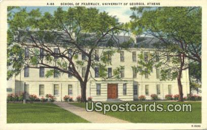 School of Pharmacy, University of Georgia - Athens Postcard