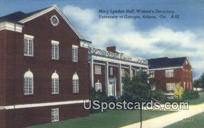 Mary Lyndon Hall, University of Georgia - Athens Postcard