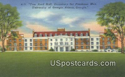 Tom Reed Hall, University of Georgia - Athens Postcard