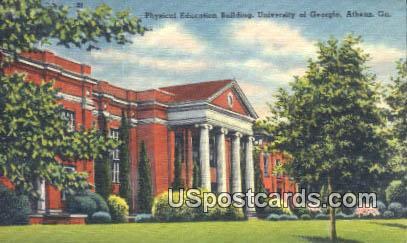 Physical Education Building, U of Georgia - Athens Postcard