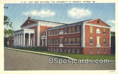 Fine Arts Building, University of Georgia - Athens Postcard
