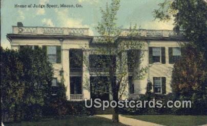 Home of Judge Speer - Macon, Georgia GA Postcard
