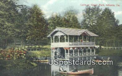 Lake, Grant Park - Atlanta, Georgia GA Postcard
