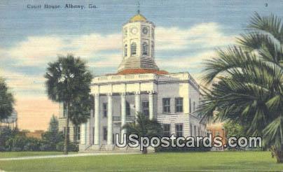 Court House - Albany, Georgia GA Postcard