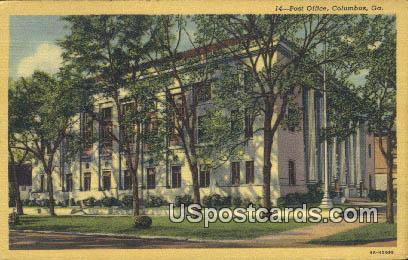 Post Office - Columbus, Georgia GA Postcard