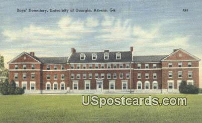 Boys' Dormitory, University of Georgia - Athens Postcard
