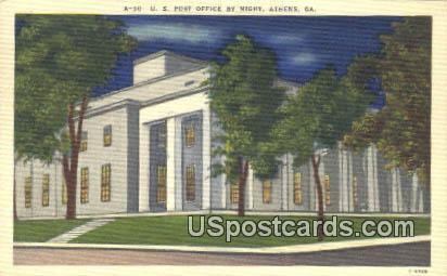 US Post Office - Athens, Georgia GA Postcard