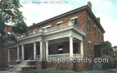 Muscogee Club - Columbus, Georgia GA Postcard