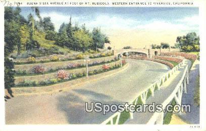 Buena Vista Avenue, Mt Rubidoux - Riverside, Georgia GA Postcard