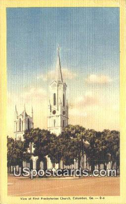 Presbyterian Church - Columbus, Georgia GA Postcard
