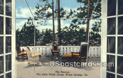 Terrace, Little White House - Warm Springs, Georgia GA Postcard