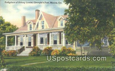 Birthplace of Sidney, Georgia's Poet - Macon Postcard