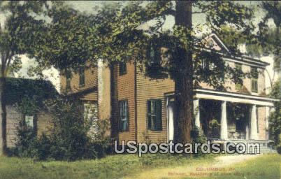Belmont, Residence of Miss Mary E Cook - Columbus, Georgia GA Postcard