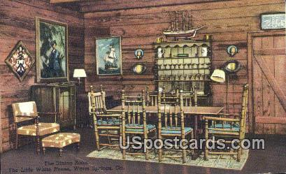 Dining Room, Little White House - Warm Springs, Georgia GA Postcard