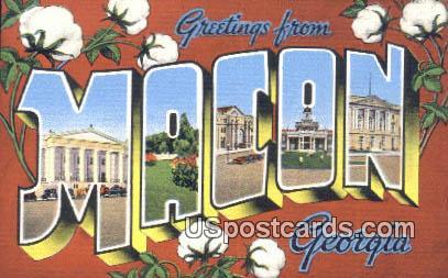 Greetings from - Macon, Georgia GA Postcard