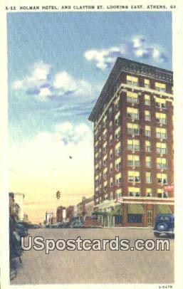 Holman Hotel - Athens, Georgia GA Postcard