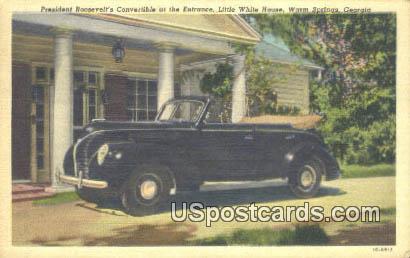 President Roosevelt's Convertible - Warm Springs, Georgia GA Postcard