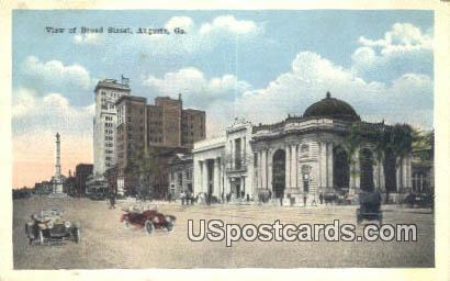 Broad Street - Augusta, Georgia GA Postcard