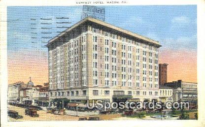 Dempsey Hotel - Macon, Georgia GA Postcard