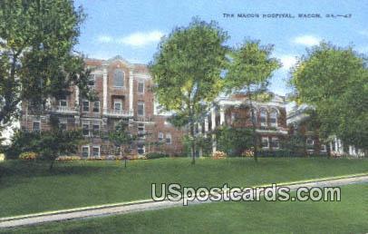 Macon Hospital - Georgia GA Postcard