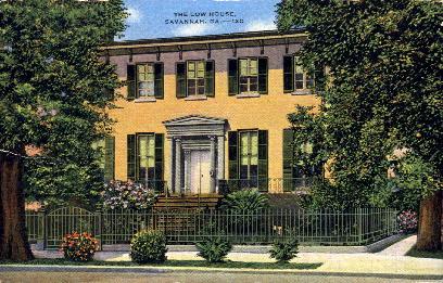 The Low House - Savannah, Georgia GA Postcard