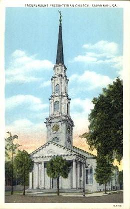 Independent Presbyterian Church - Savannah, Georgia GA Postcard