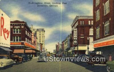 Broughton Street - Savannah, Georgia GA Postcard