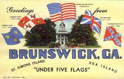 Brunswick - St. Simons Island, Georgia GA Postcard