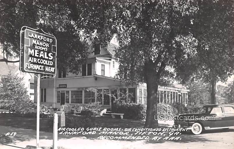 Lankford Manor - Tifton, Georgia GA Postcard