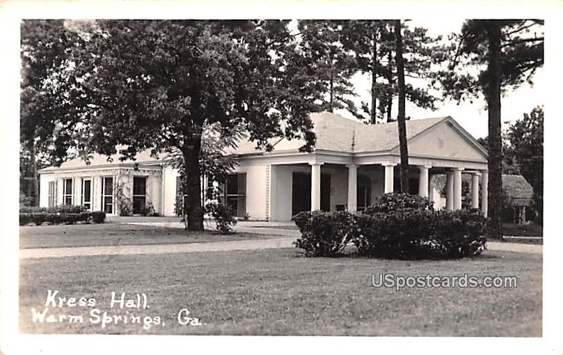 Kress hall - Warm Springs, Georgia GA Postcard