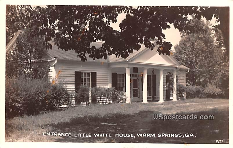 Entrance Little White House - Warm Springs, Georgia GA Postcard