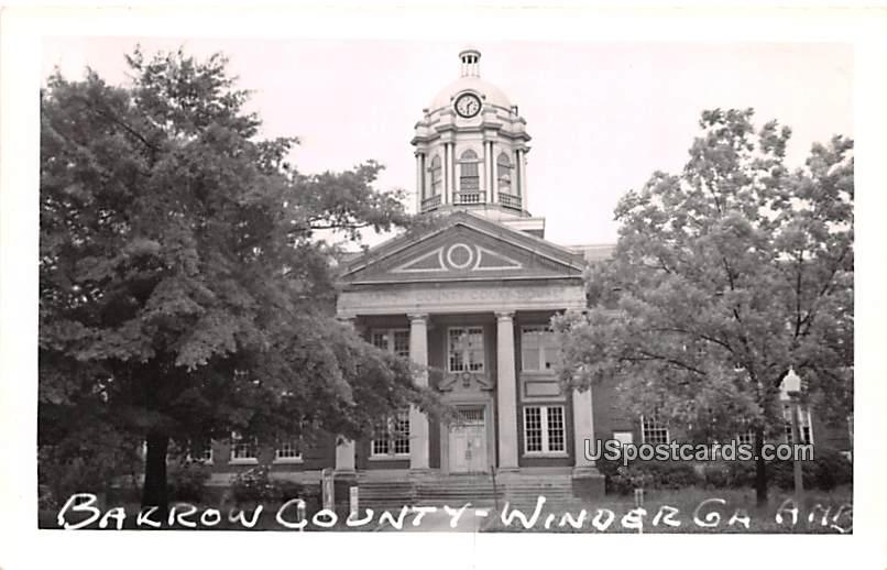Bakron County - Winder, Georgia GA Postcard