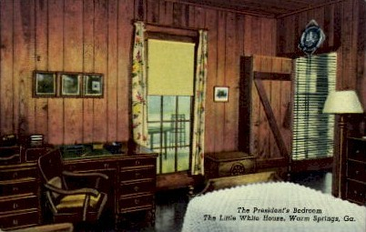 The President's Bedroom - Warm Springs, Georgia GA Postcard