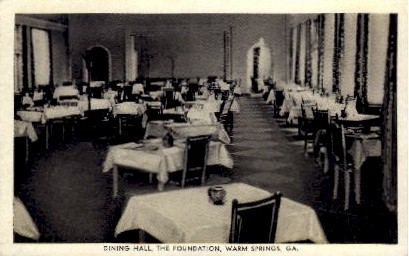 Dining Hall - Warm Springs, Georgia GA Postcard